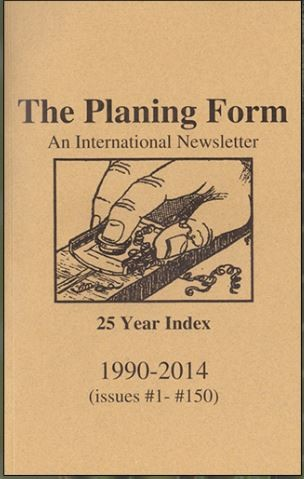 Image for The Planing Form 25 Year Index 1990-2014